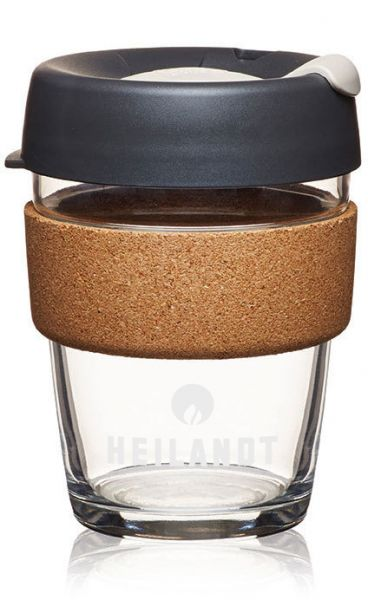 Heilandt KeepCup glas/kork medium black (340ml/12oz)